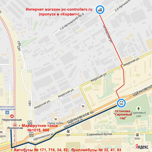 Схема проезда от м. Черкизовская