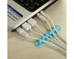 Клипса для 5-и кабелей EK52 (в комплекте 2шт), Espada (крепление проводов к стене или в автомобиле/держатель кабеля/Table Cable Tidy Organiser Management System Rubber Grips)