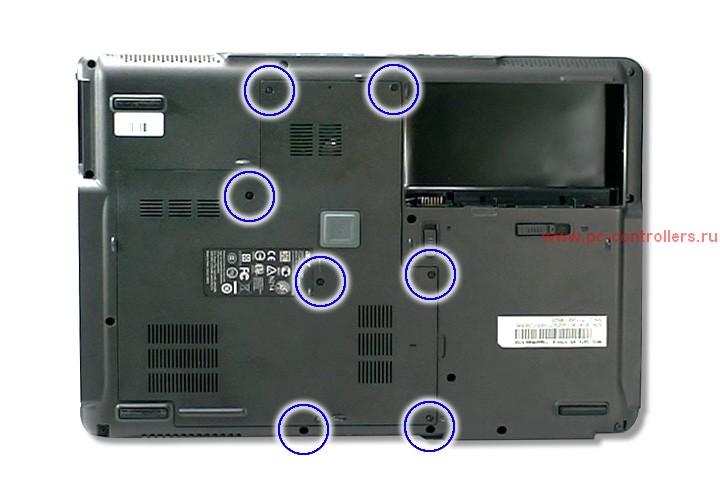 Установка карты WLAN Mini PCI-E