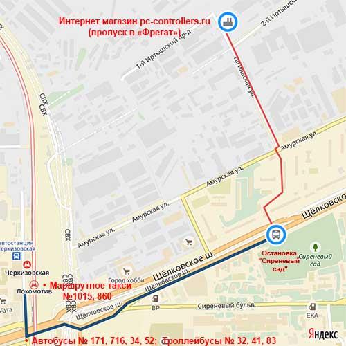 От метро Черкизовская до pc-controllers